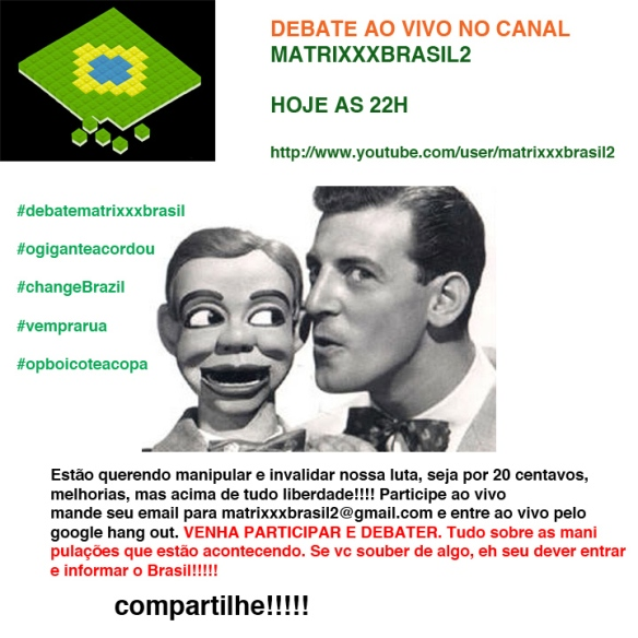 HOJE AS 22H AO VIVO DO CANAL